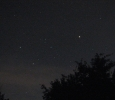Saturn (left) and Mars (right) frame the head of Scorpius