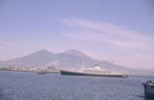 Leonardo da Vinci entering Naples harbor, 1964.